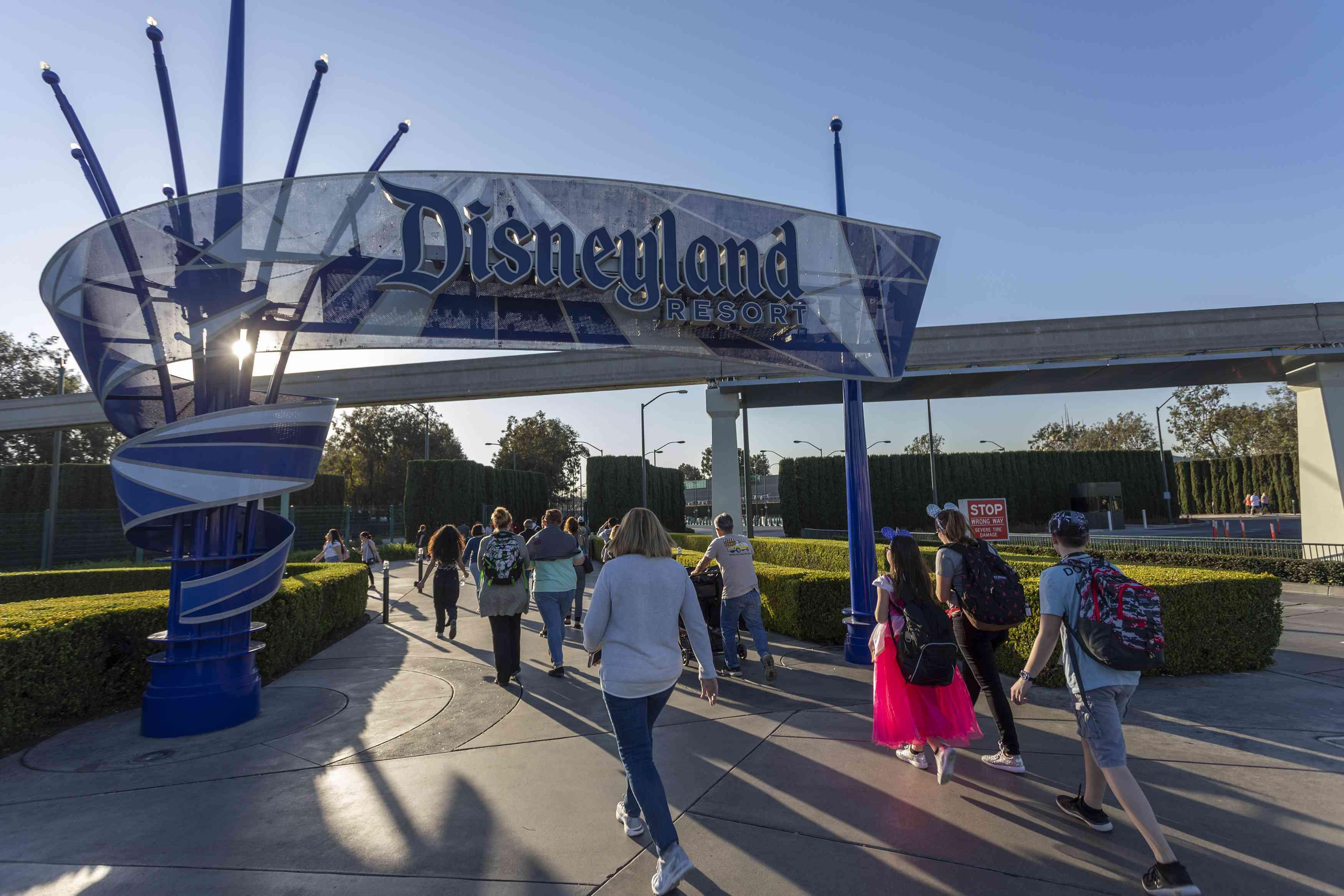 Disneyland entrance in Anaheim, California