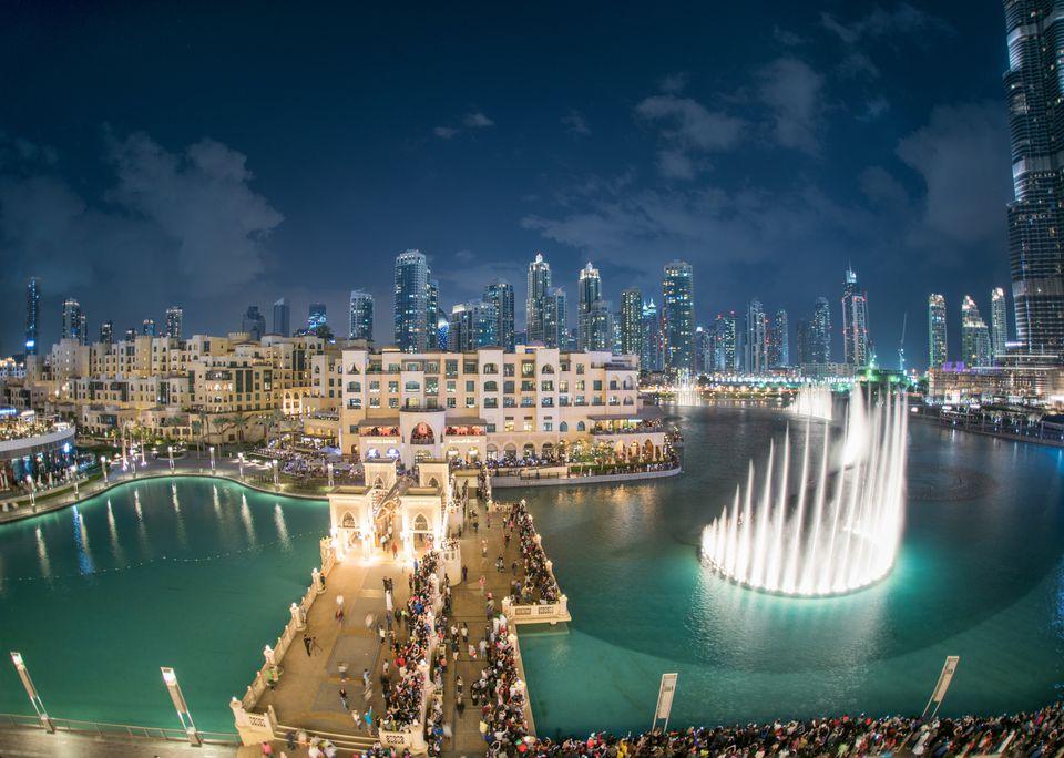 Espectáculo de la Fuente de Dubai, Burj Khalifa, EAU