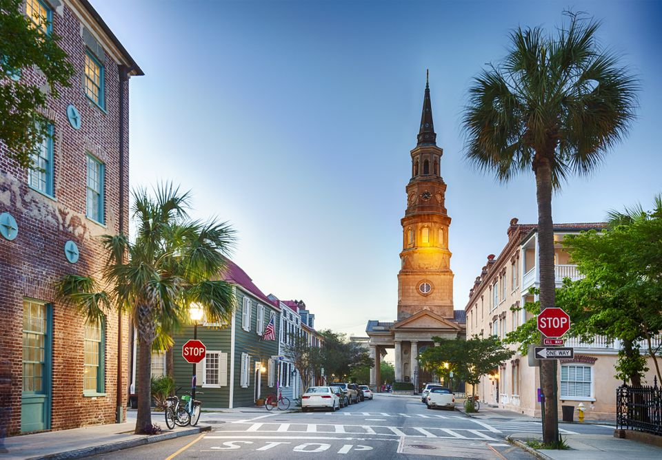 Charleston, South Carolina In The Evening