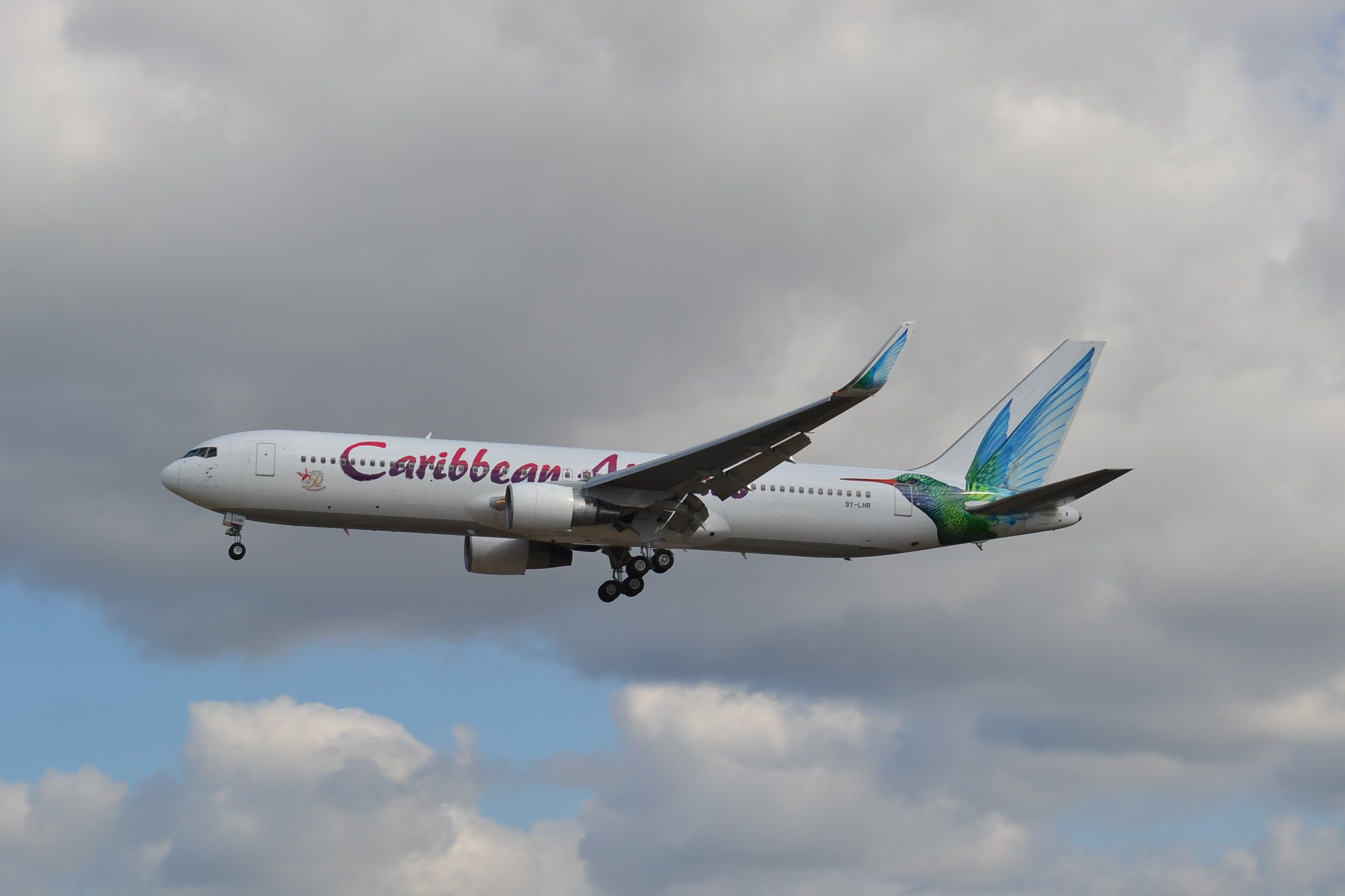Boeing 767 of Caribbean Airlines at London Gatwick