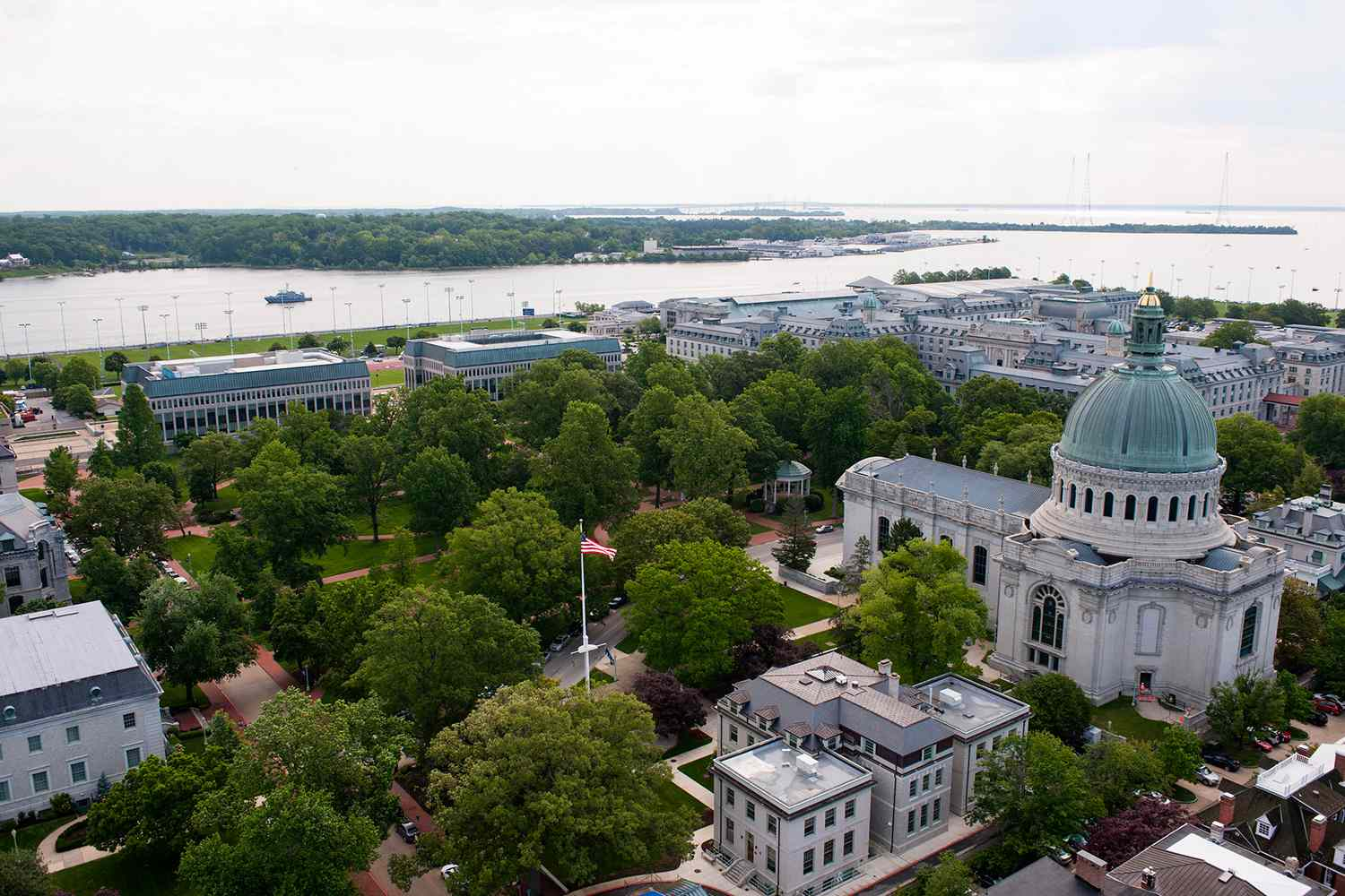 Aerial view of the U.S. Naval Academy