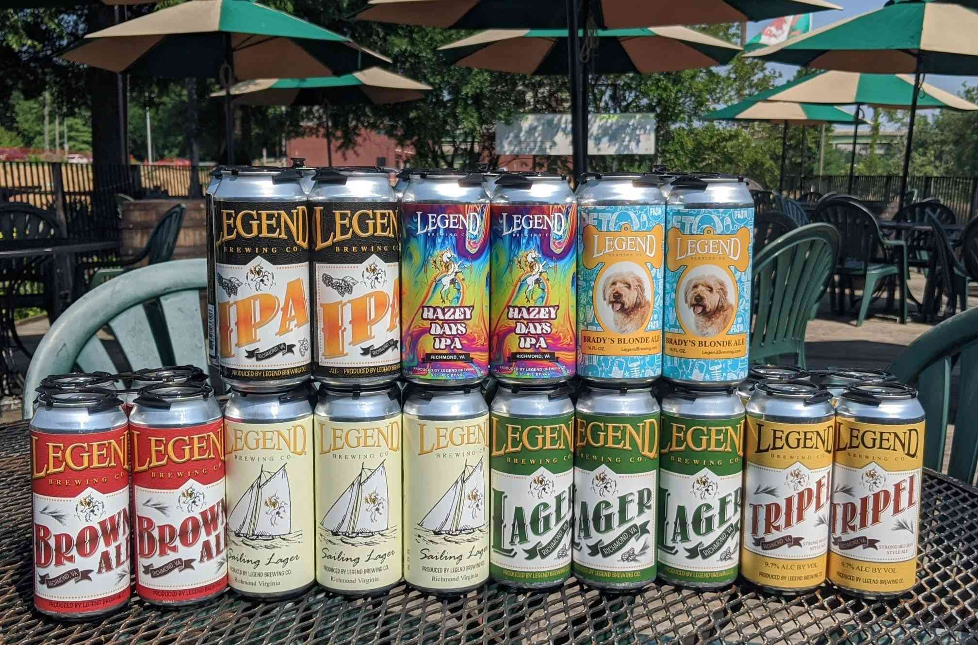 Several cans of beer