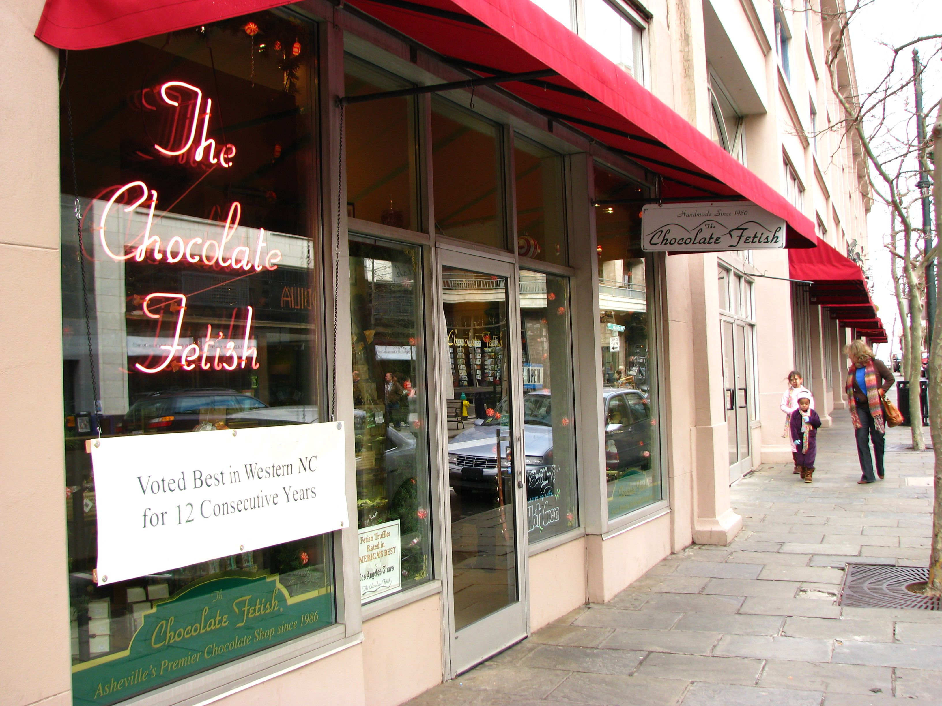 Chocolate Fetish Boutique and Chocolatier, on Haywood Street