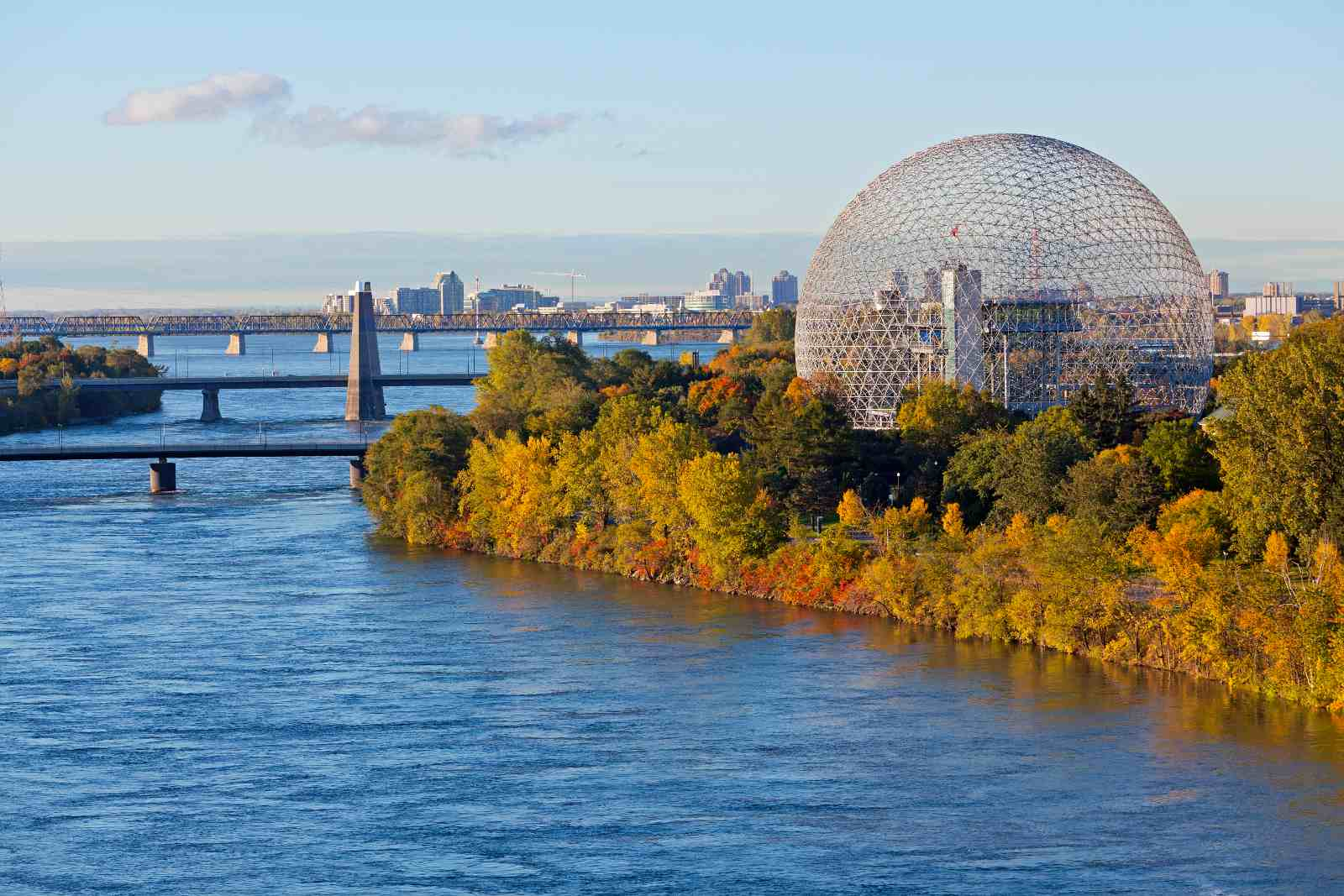 Fall colors at Parc Jean-Drapeau in Montreal