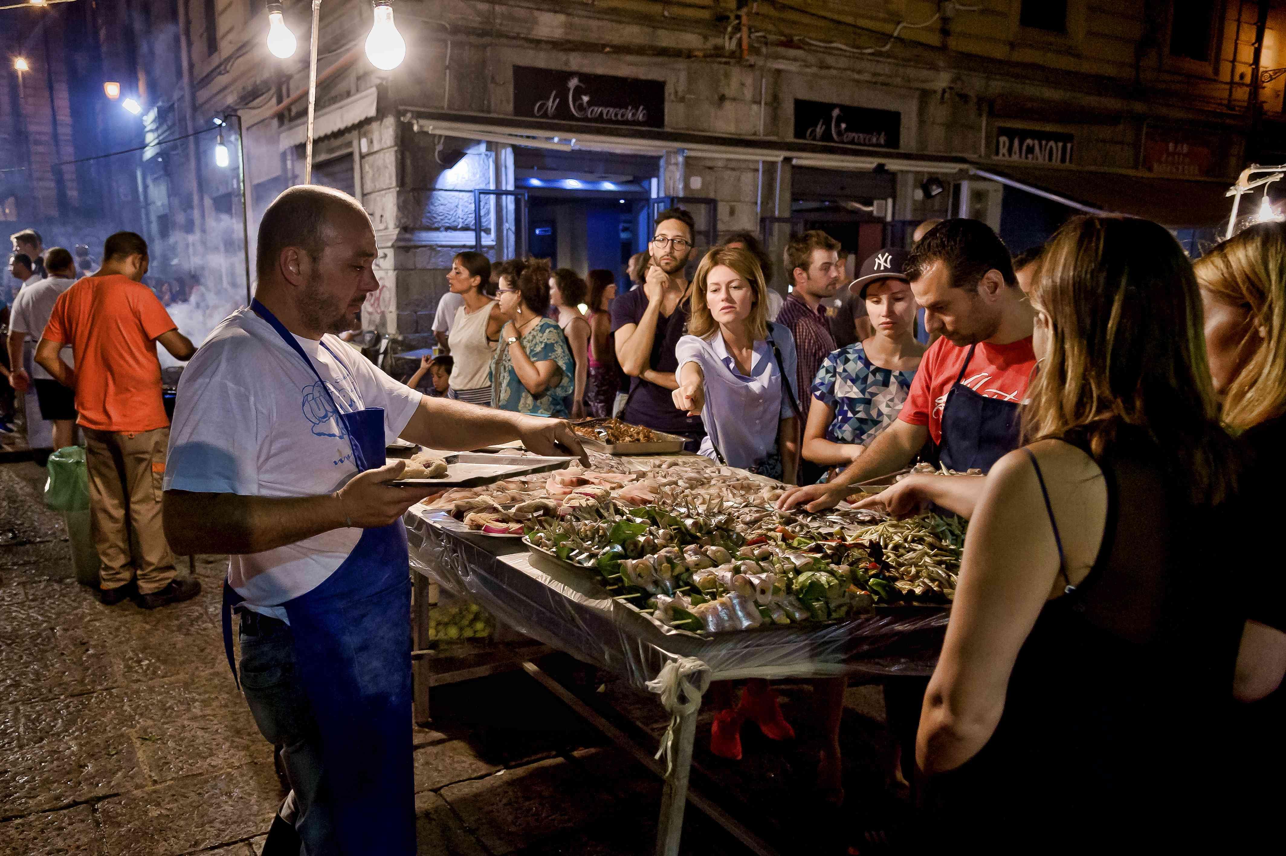 The market Vucciria in Palermo