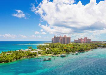 Bahamas tropical beach scenery at Nassau, caribbean.