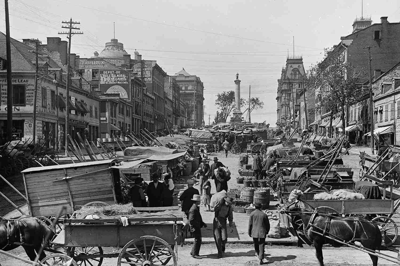 Jacques Cartier Square, Montreal, Quebec, Canada, circa 1900