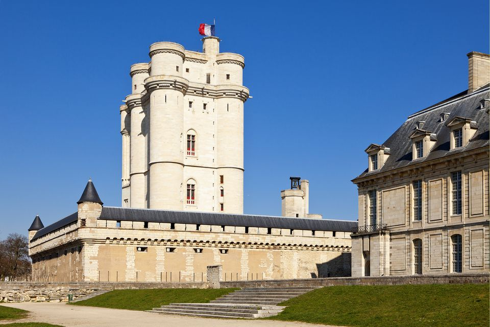 The Chateau de Vincennes is a fortified castle just east of Paris.