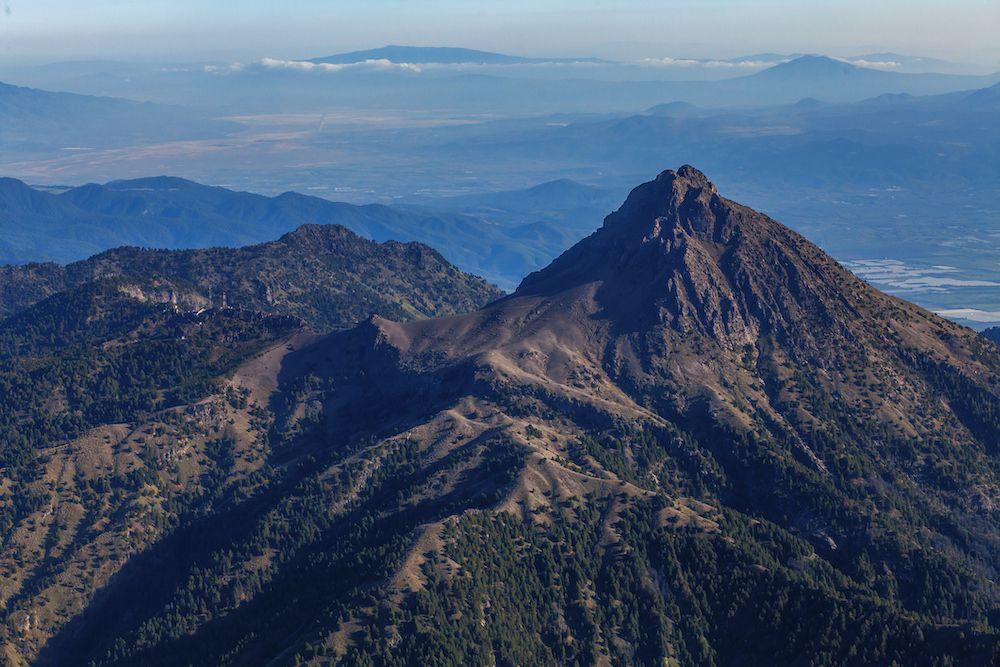Nevado de Colima mountain in Mexico