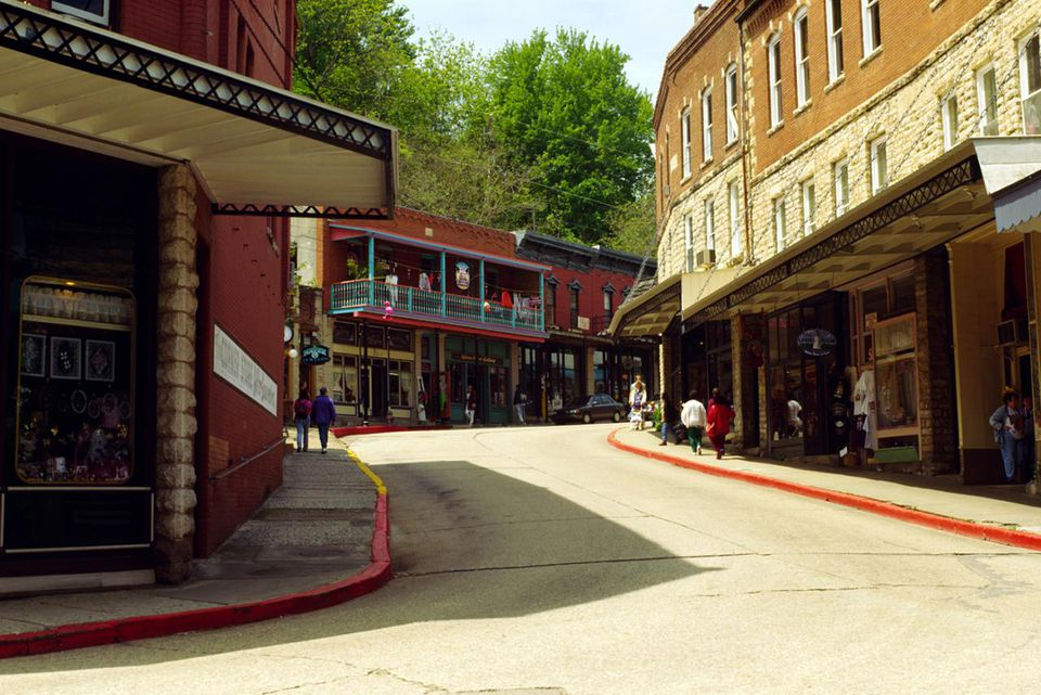 Historic downtown Eureka Springs, Ozarks, Arkansas, USA