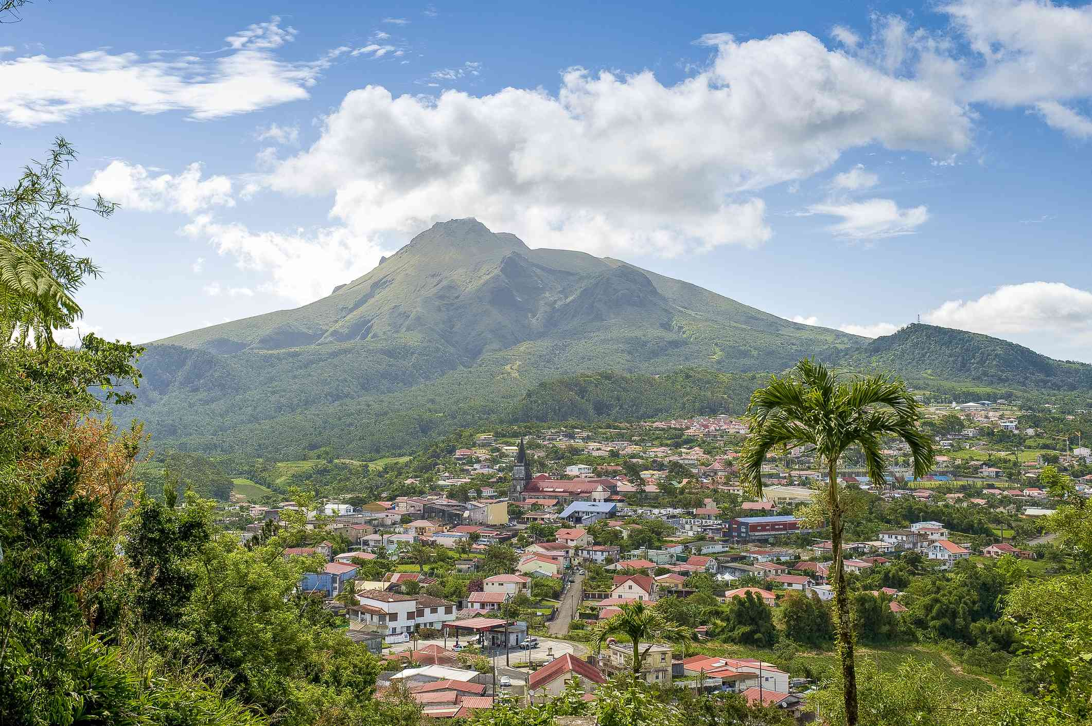 Martinique, Le Morne-Rouge, at the foot of the Mount Pelée