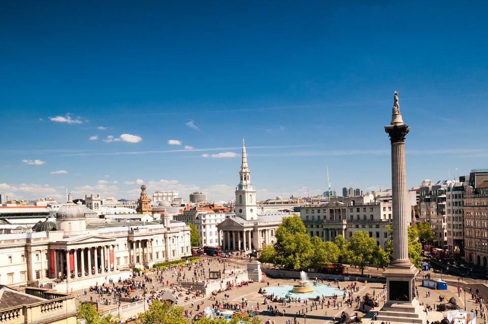Trafalgar sqaure en Londres, Inglaterra