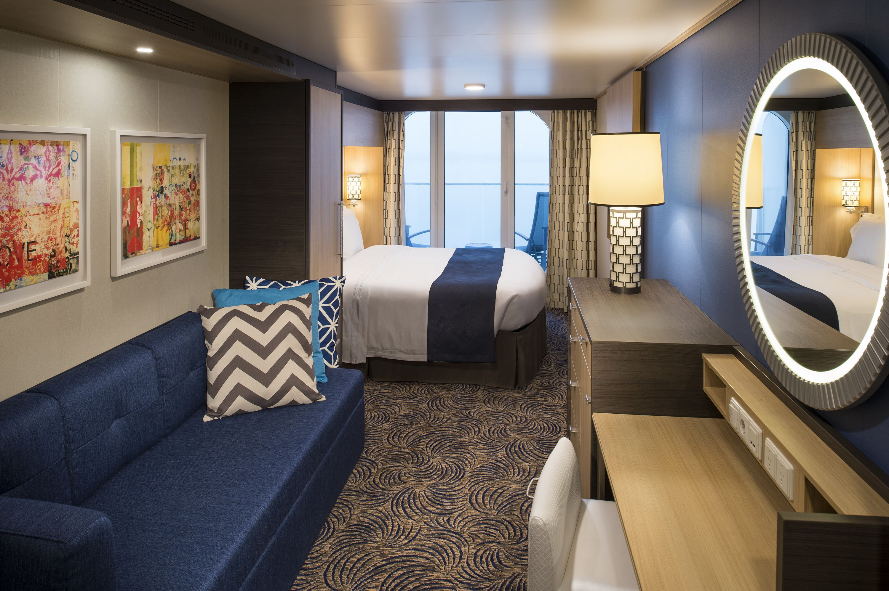 Superior Ocean View Cabin with Balcony on the Anthem of the Seas