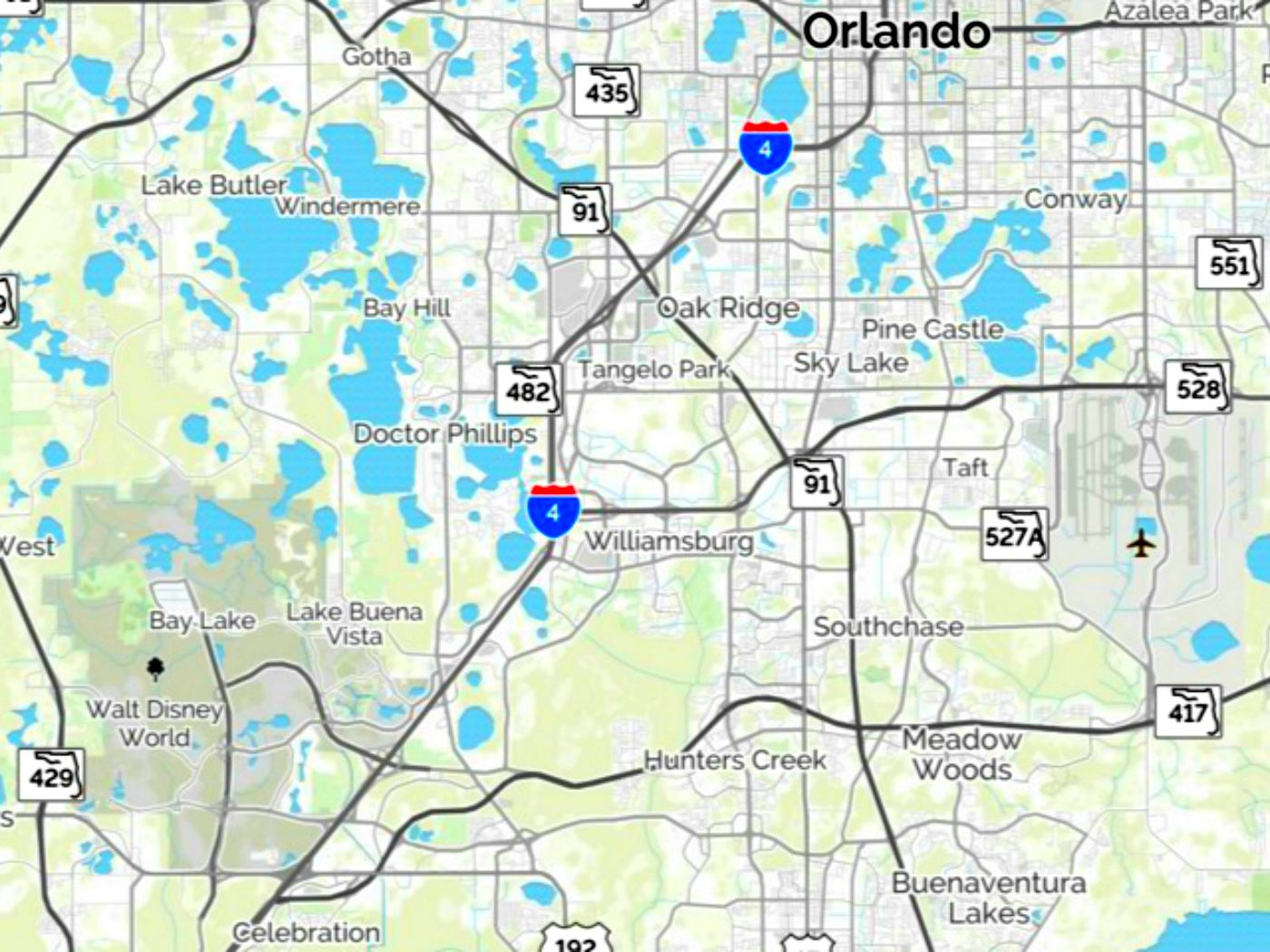 Map Of Florida Disney World Maps of Walt Disney World's Parks and Resorts