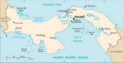 Caribbean Cruise Map of Panama