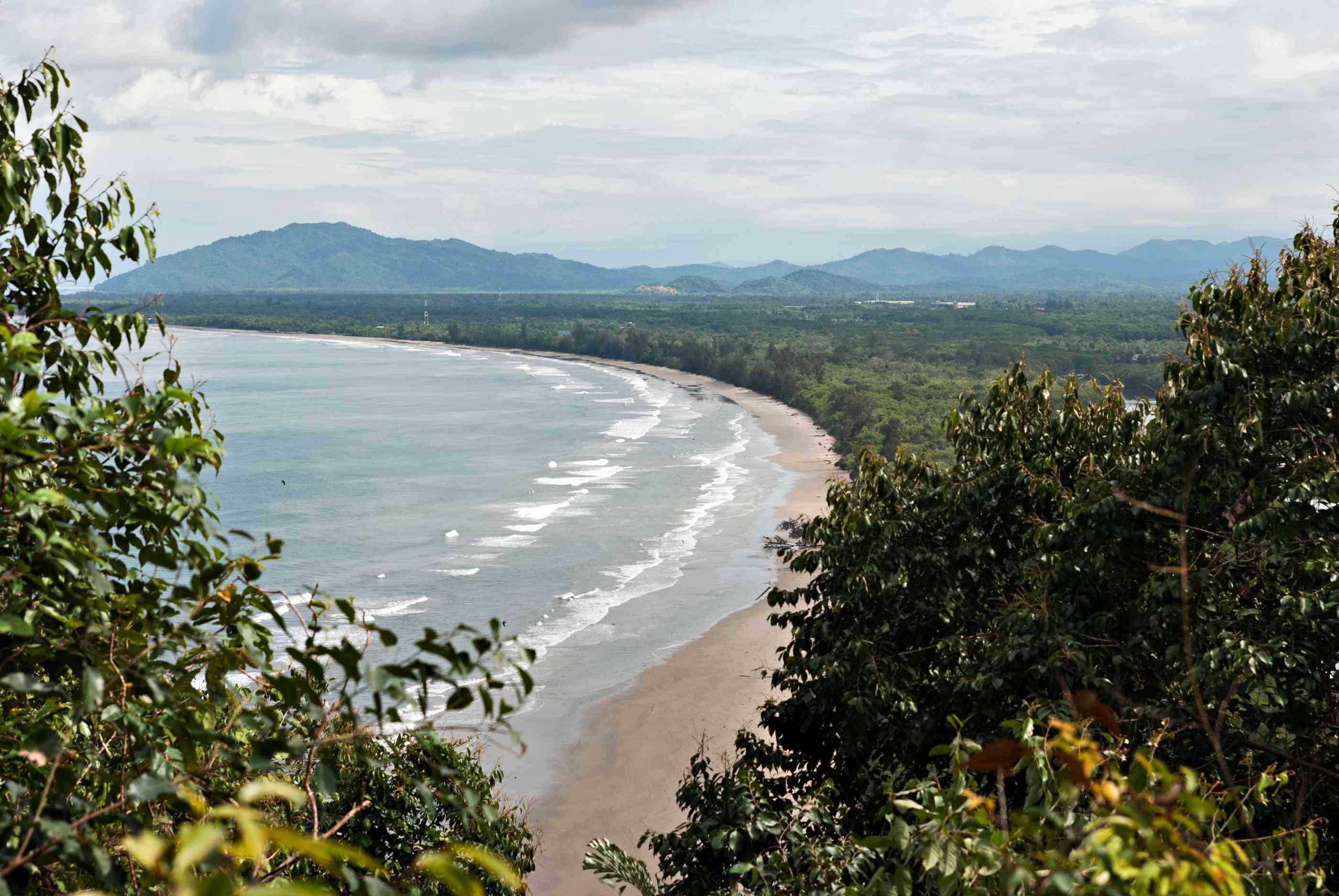 Beach at Pantai Dalit as seen from the Rasa Ria