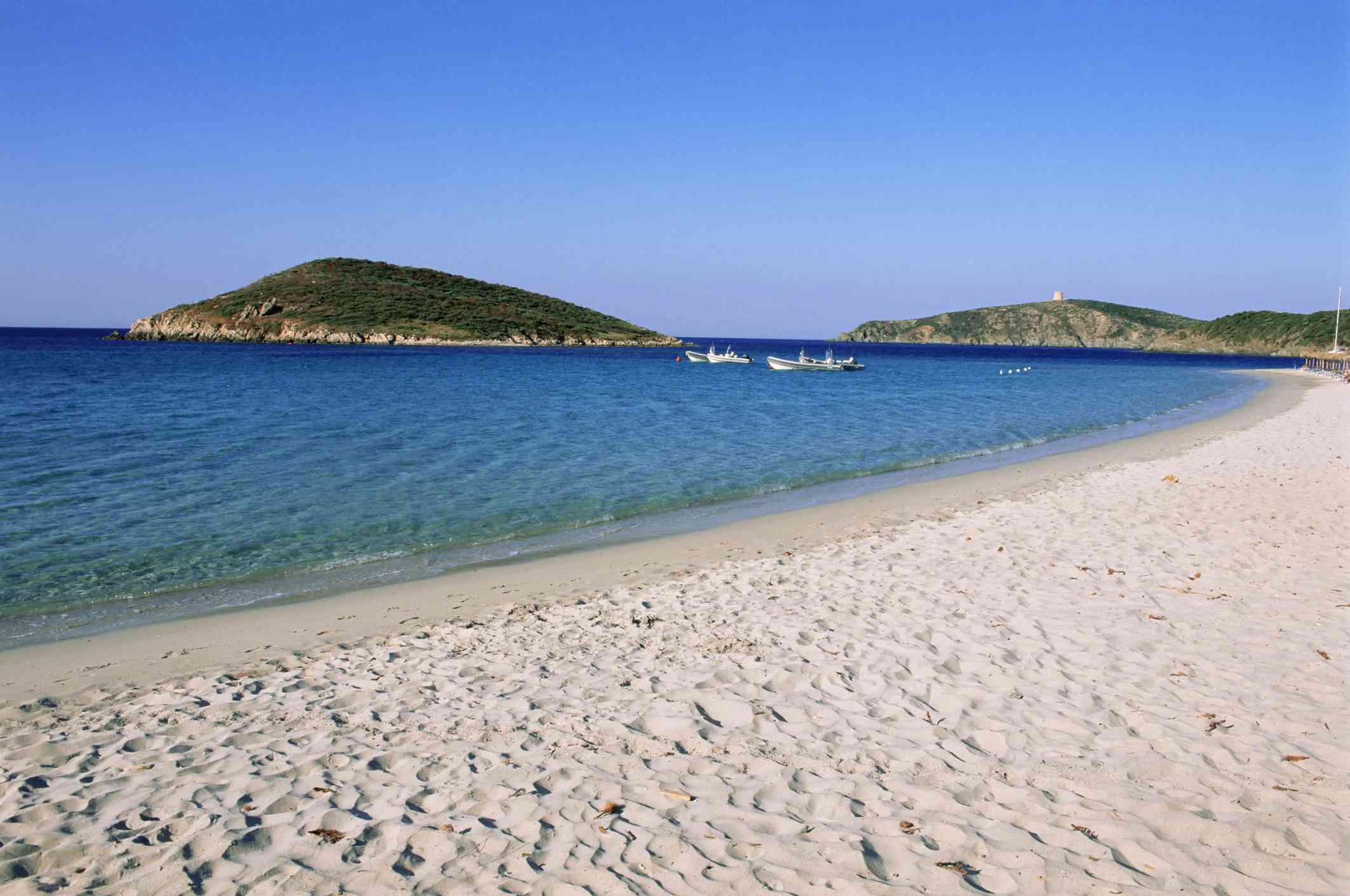 Beach along the Chia Coast, Sardinia