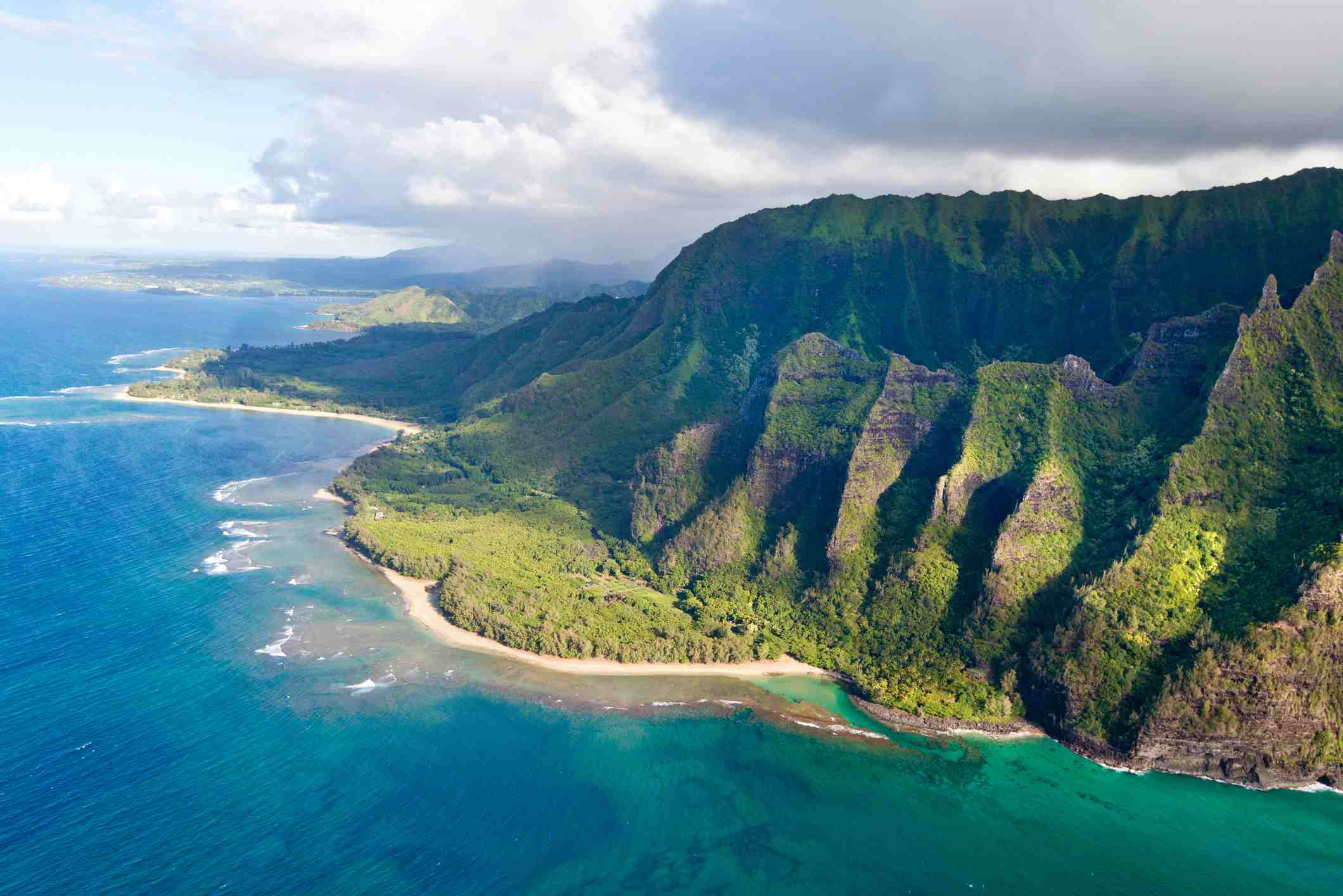 Vista aérea de Kauai Hawaii