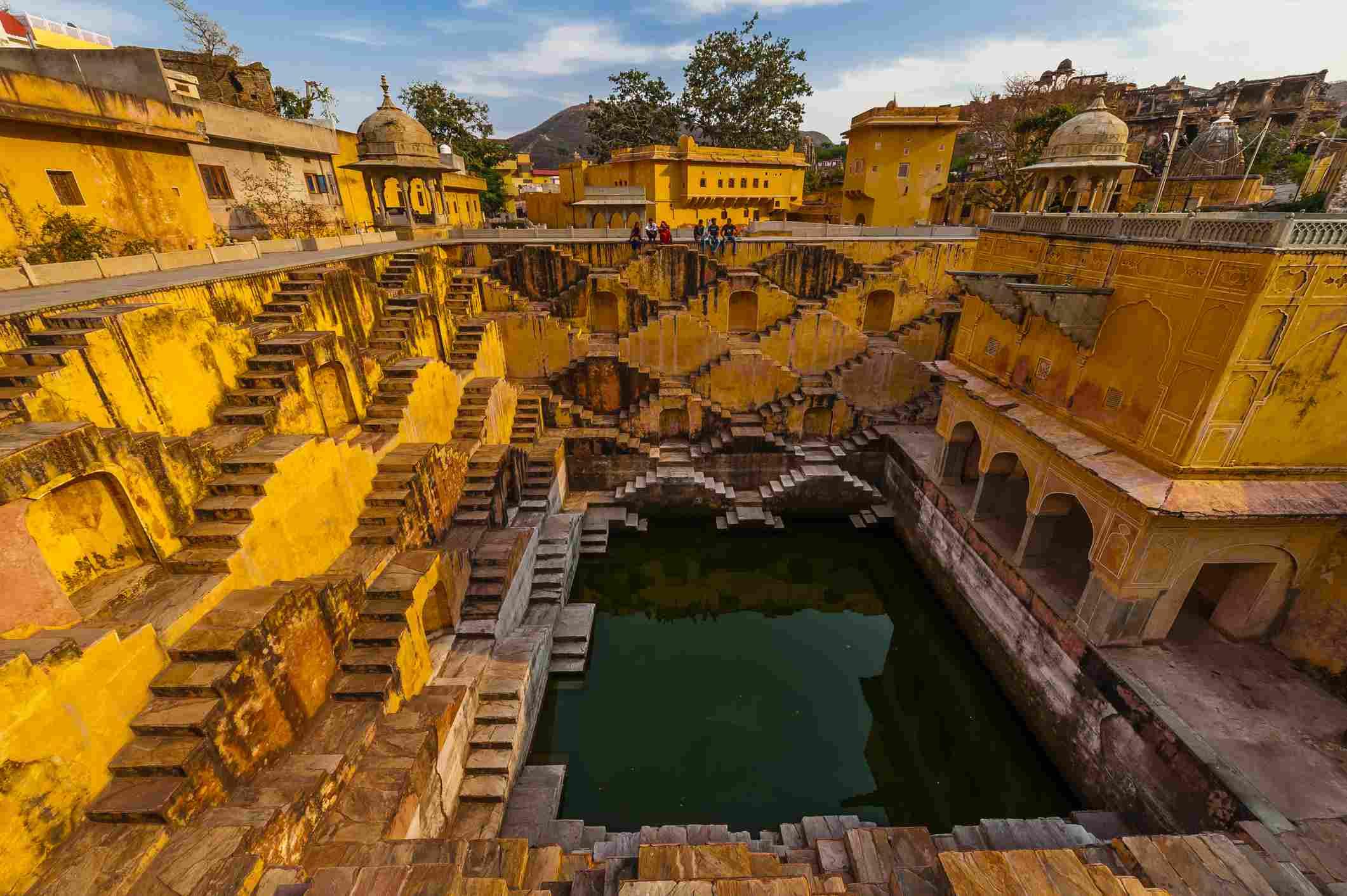 Panna Meena Ka Kund step well, (baori), Amer (near Jaipur), Rajasthan, India