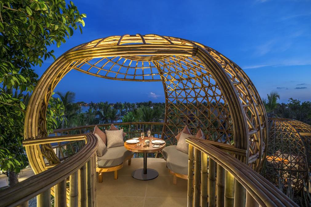 Terra Treetop Restaurant en Waldorf Astoria Maldives Ithafushi