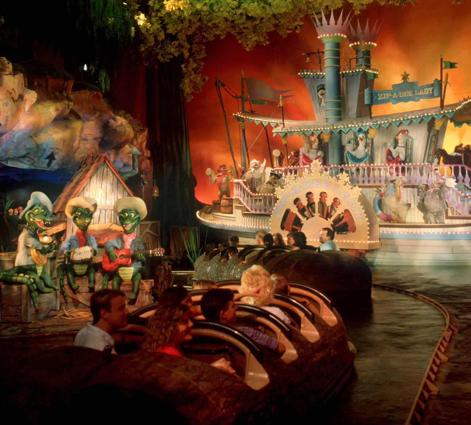 Inside Splash Mountain at Walt Disney World