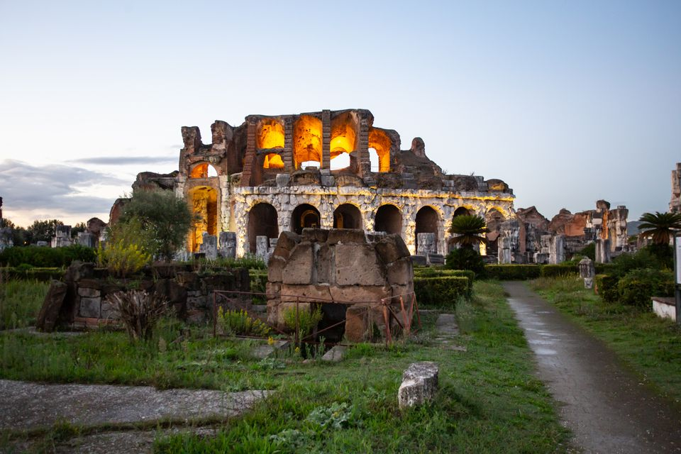 Capua Roman Theatre in Naples, Italy