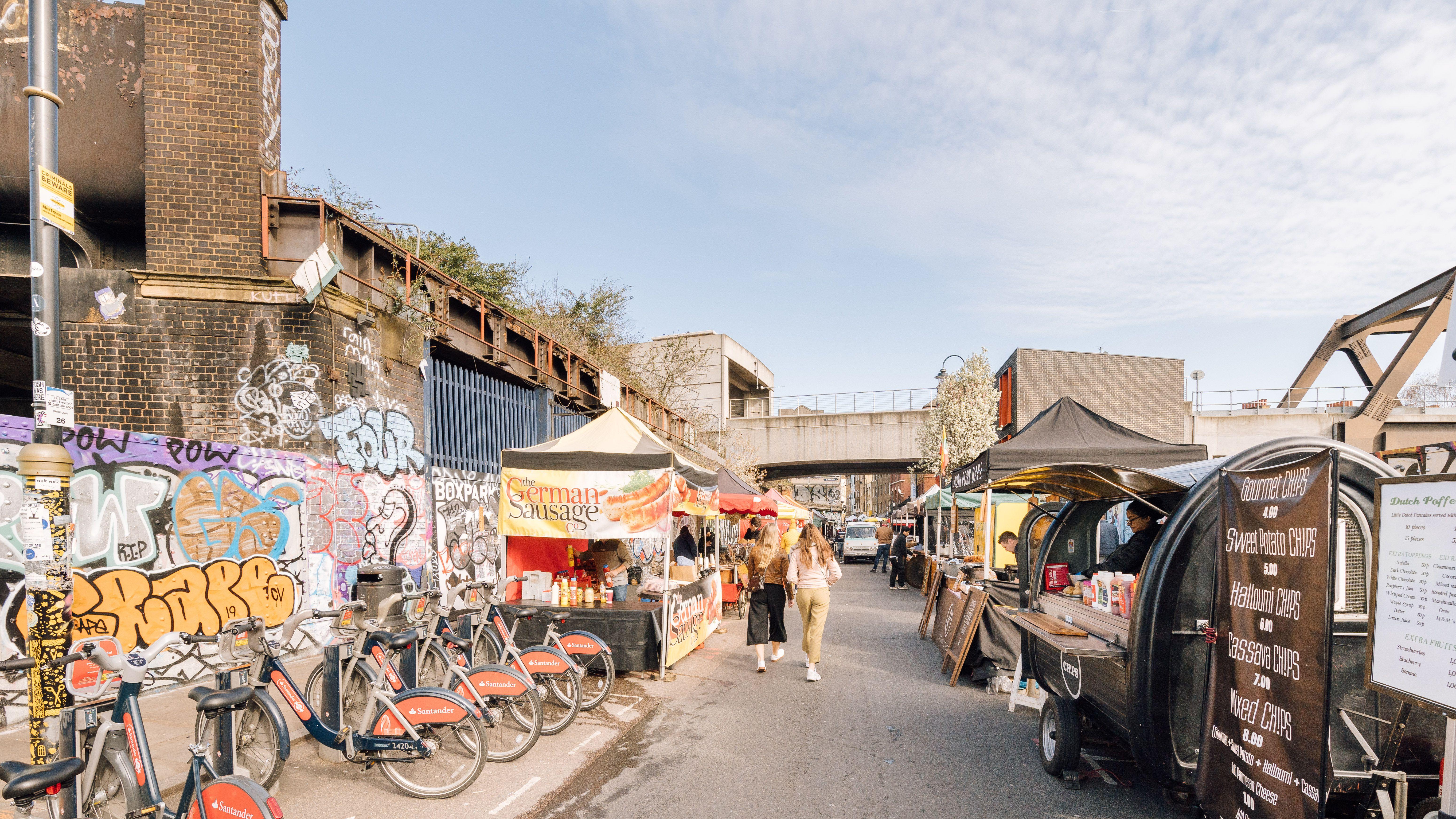 Brick Lane Market in Banglatown London