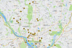 Washington, DC Traffic Circles Map