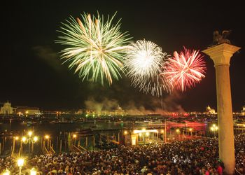 fireworks at redentore festival, Venice