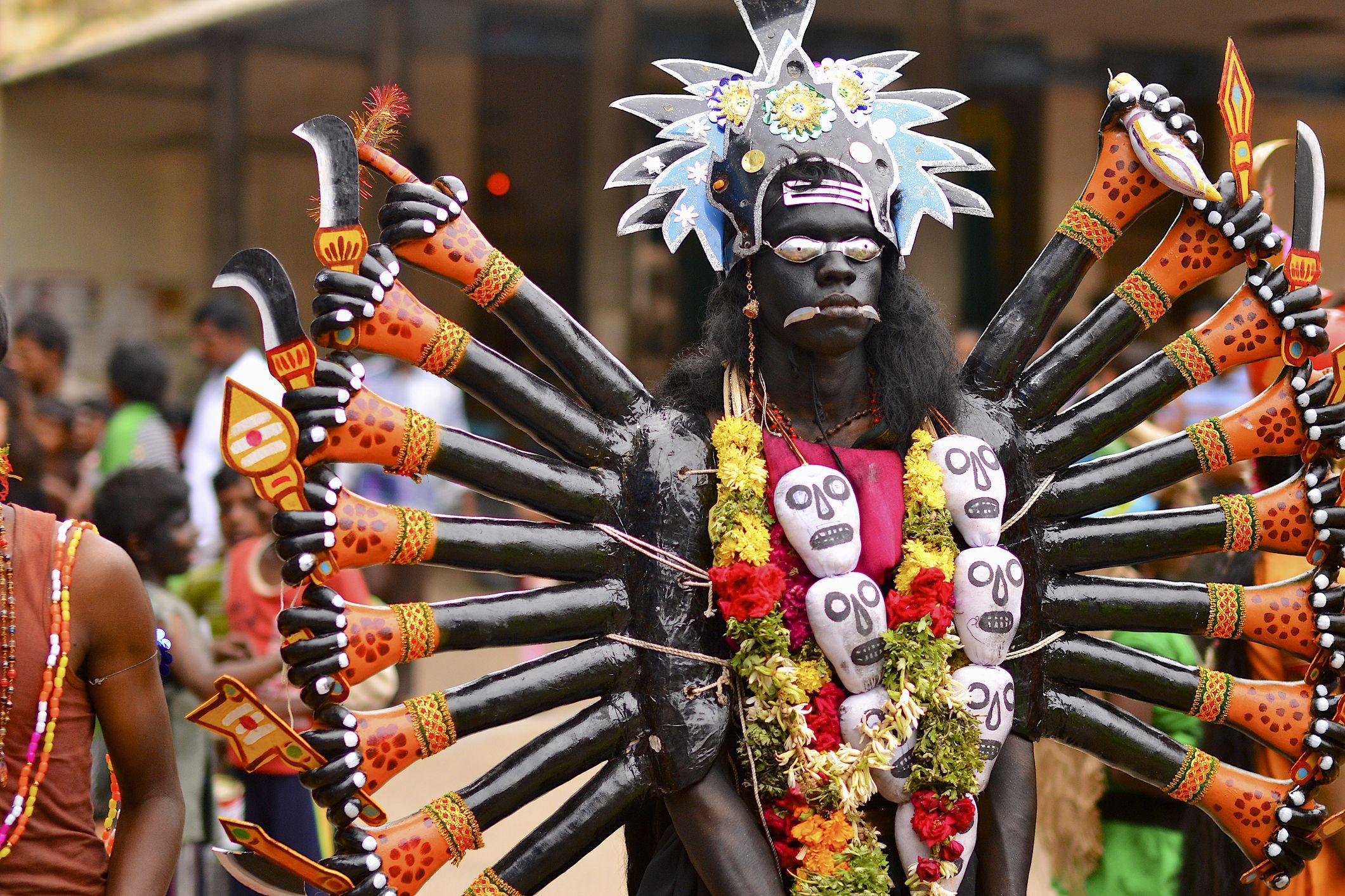 Dussehra festival in Kulasekarapattinam village.