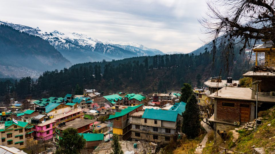 View of Manali, India, and mountains