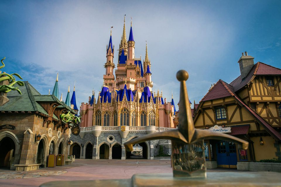 Cinderella Castle inside Magic Kingdom Park at Walt Disney World Resort in Lake Buena Vista, Fla