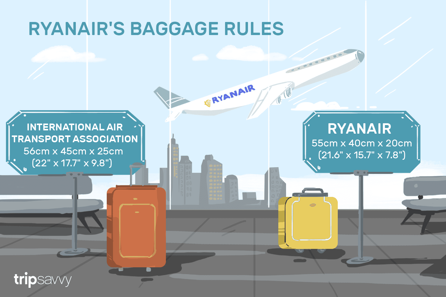 ryanair airlines hand baggage allowance