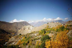 landscape of Annapurna Circuit