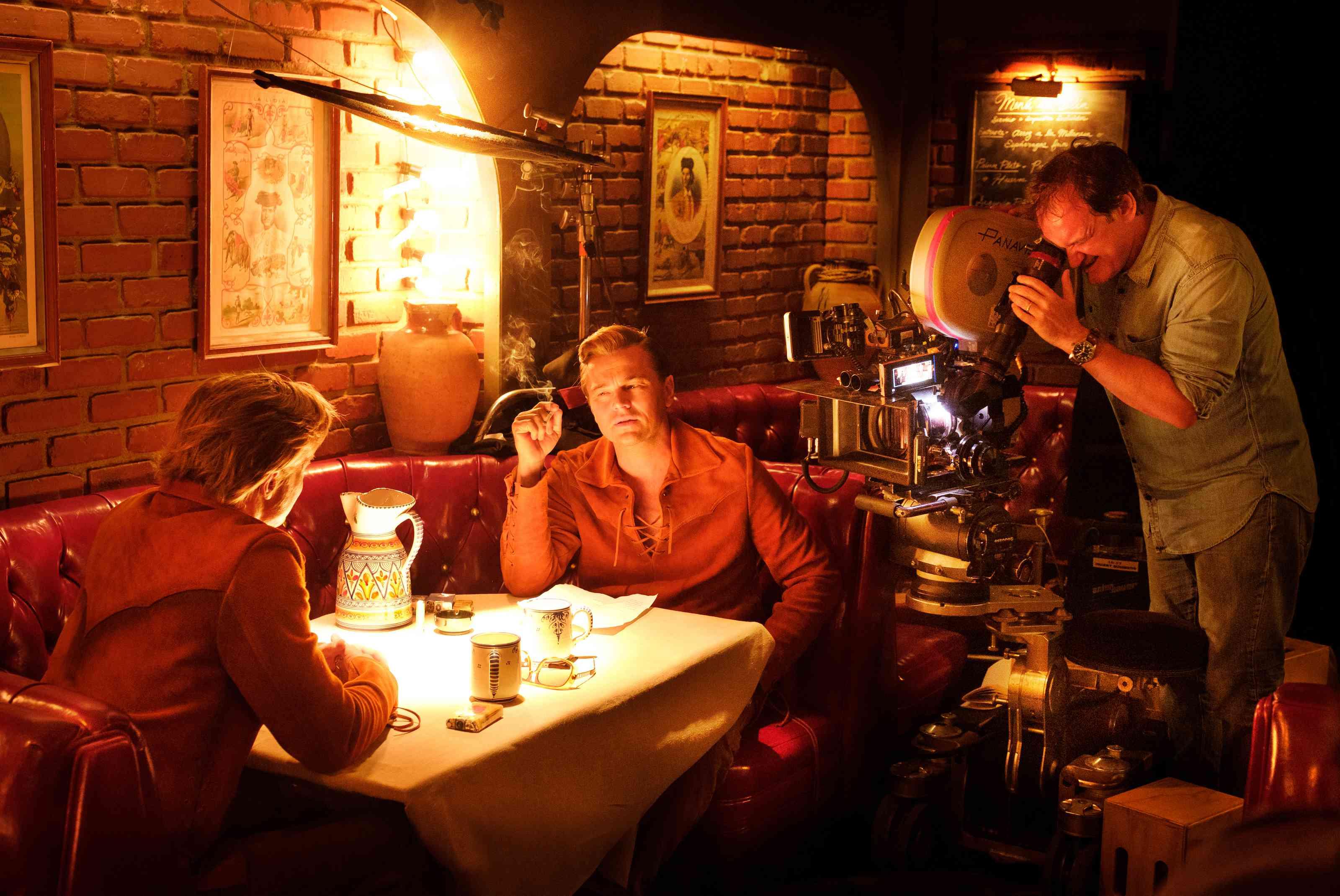 Pitt, DiCaprio, and Tarantino at Casa Vega