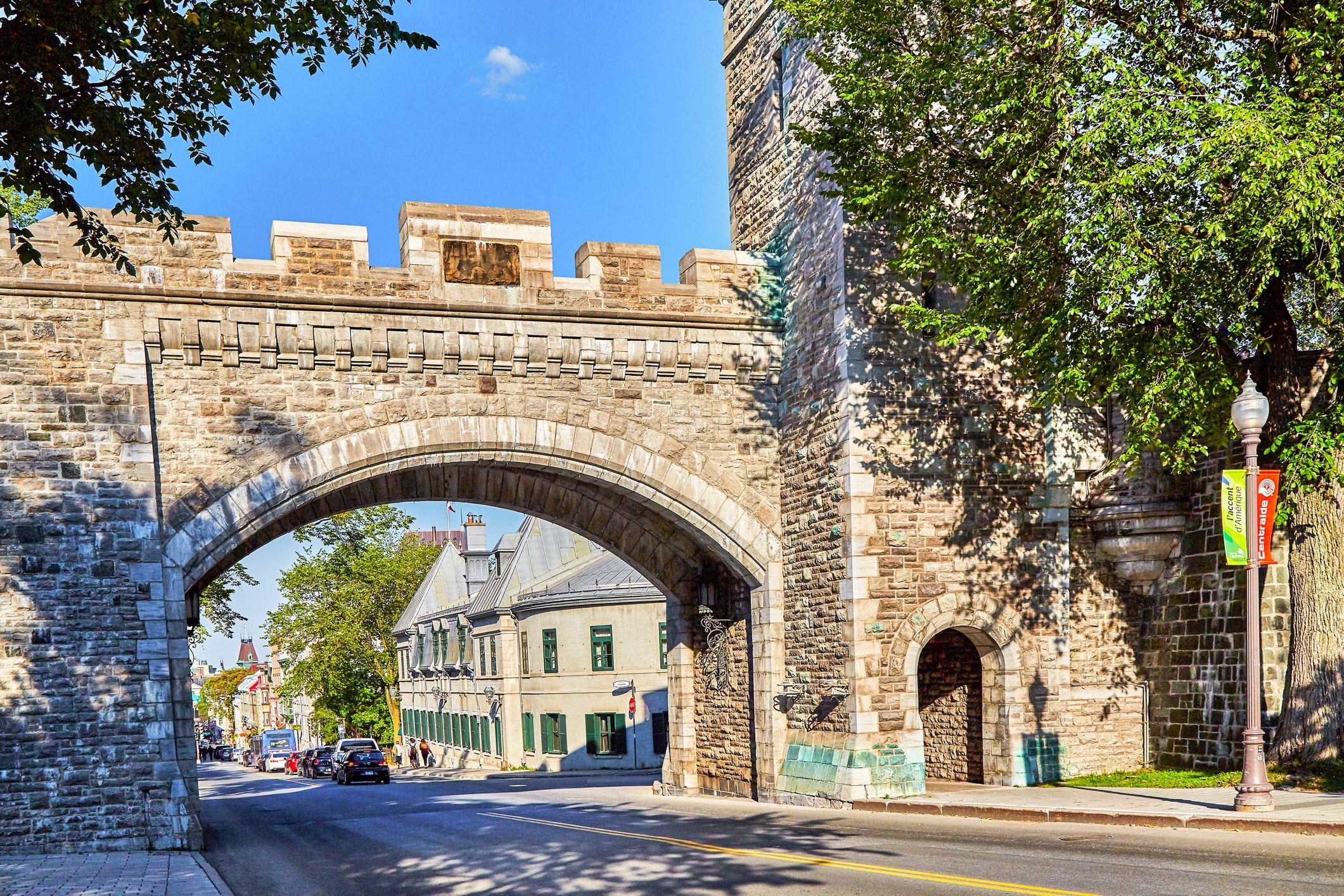 Porte St Louis wall, Quebec City