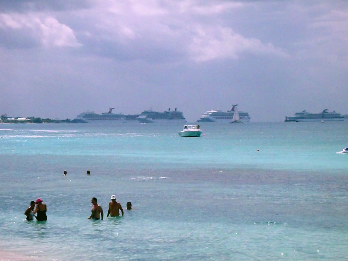 Cruise Ships Anchored at Grand Cayman Island
