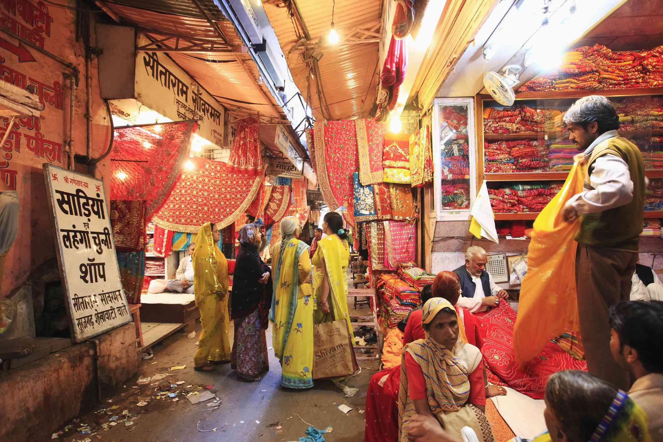 Jaipur market.
