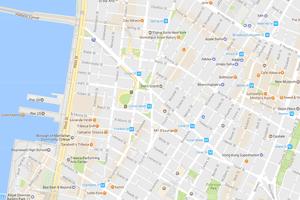 SoHo & TriBeCa Map, New York City