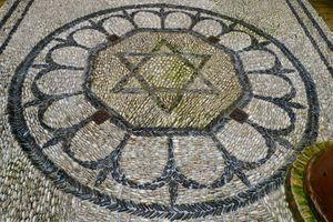 Star of David in a Jewish house in Cordoba, Spain