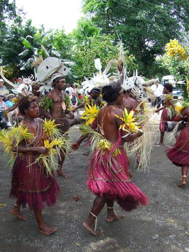 Traditional Native Singsing at BilBil Village near Madang, Papua New Guinea (PNG)