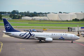 Skyteam KLM Boeing 737 Schiphol airport Amsterdam