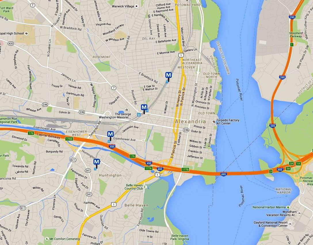 Alexandria Virginia Map and Directions