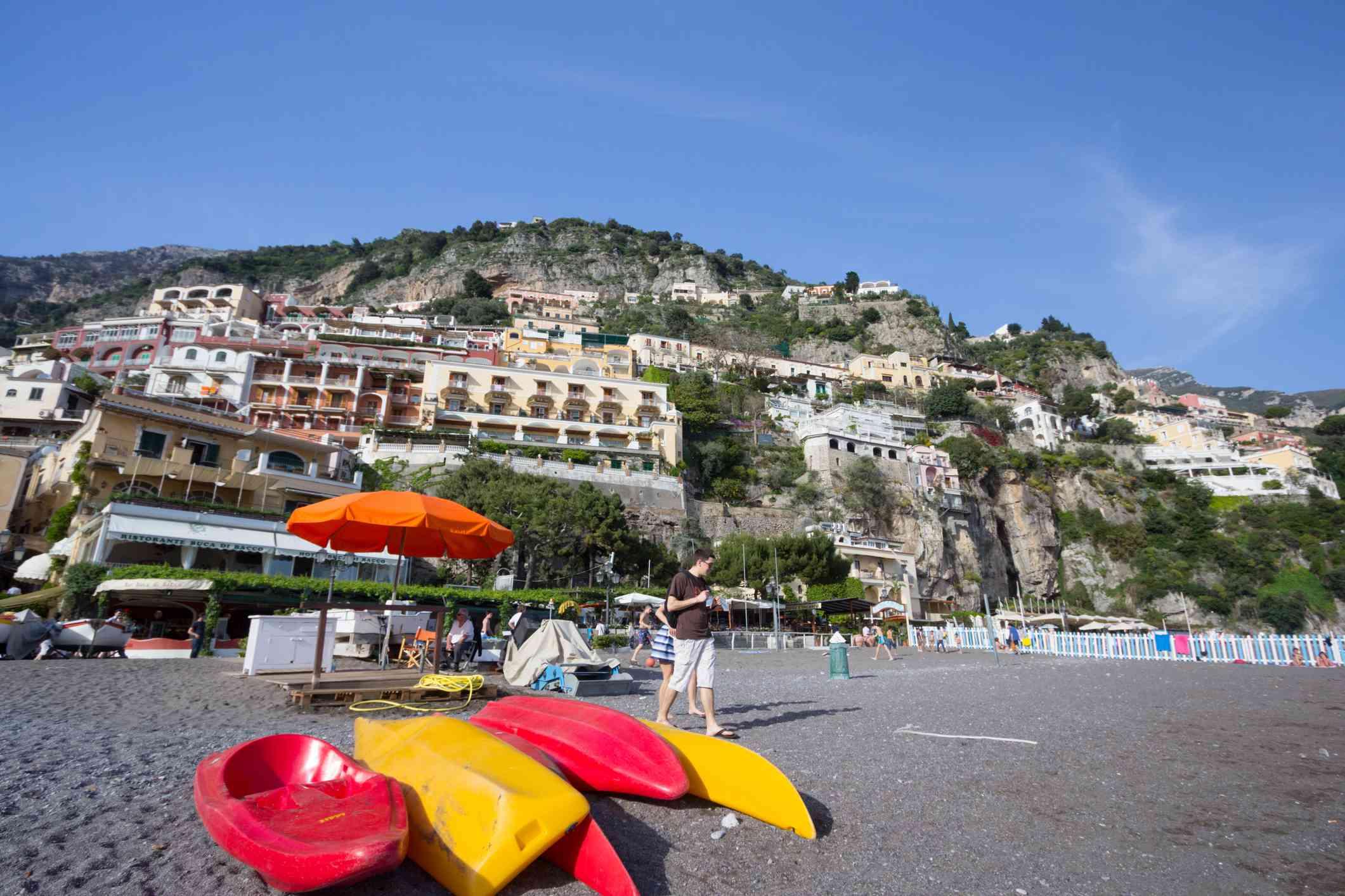 Alquiler de kayak en la playa de Positano