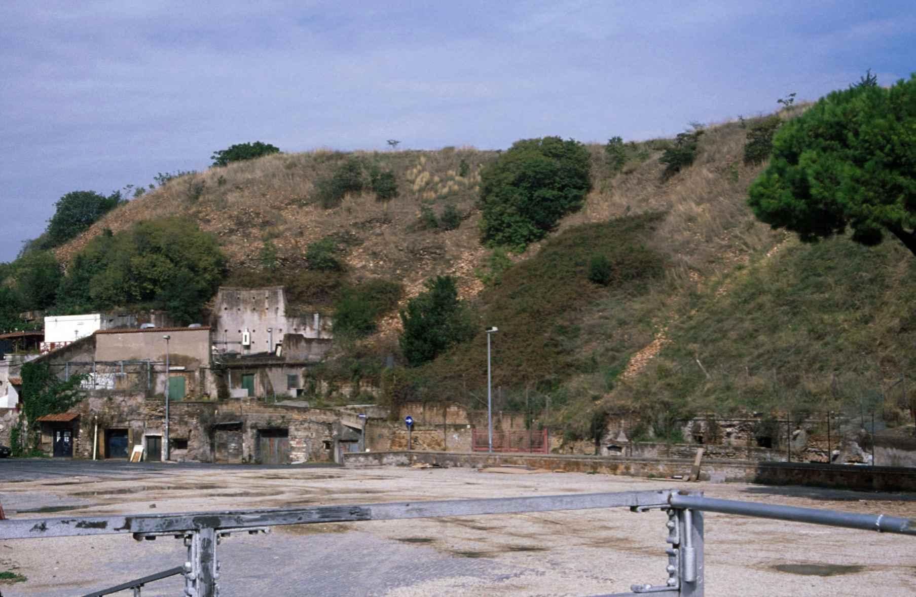 View of the hill of Monte Testaccio