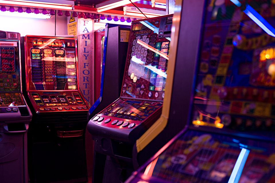 Slot machines in amusement arcade