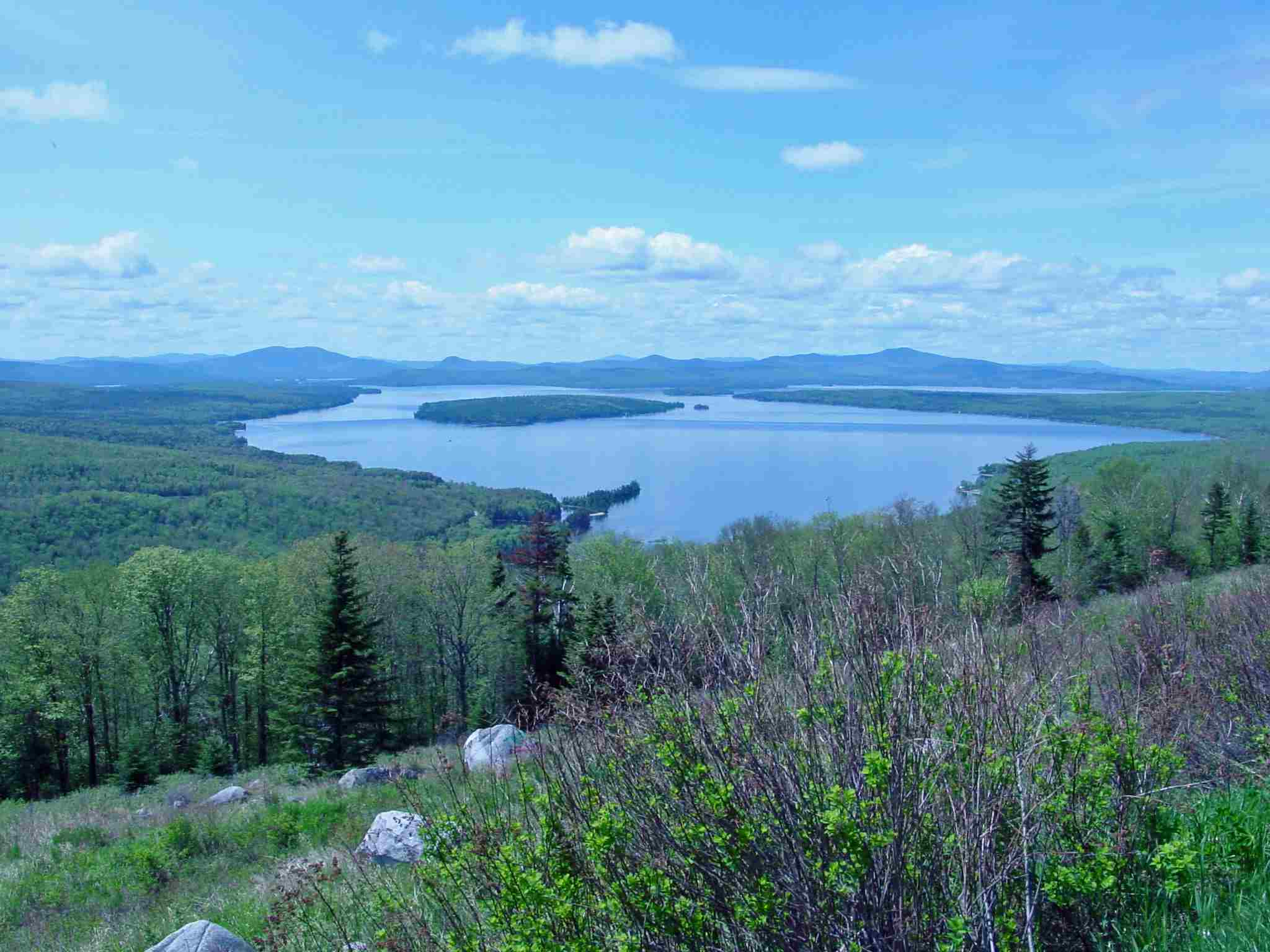 Height of Land Near Rangeley Maine on Route 17 is a Scenic Overlook