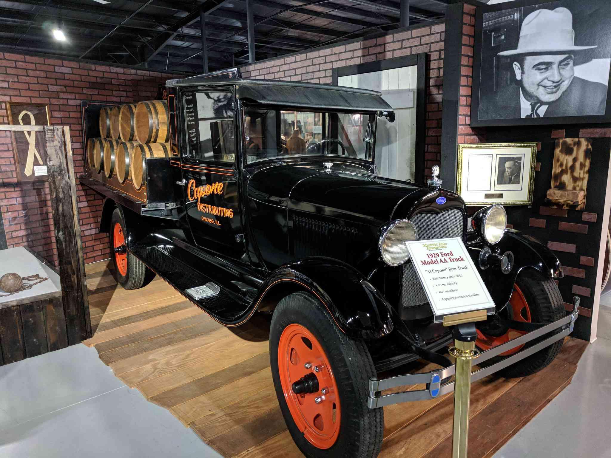 Al Capone's truck at Historic Auto Attractions museum, Roscoe, Il