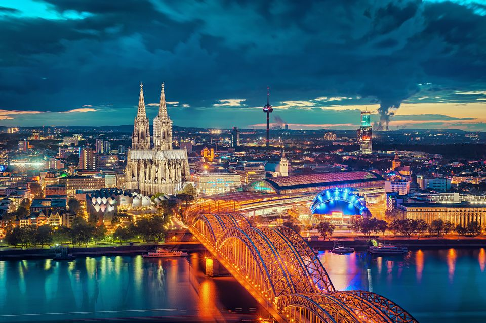 Cologne at Blue Hour