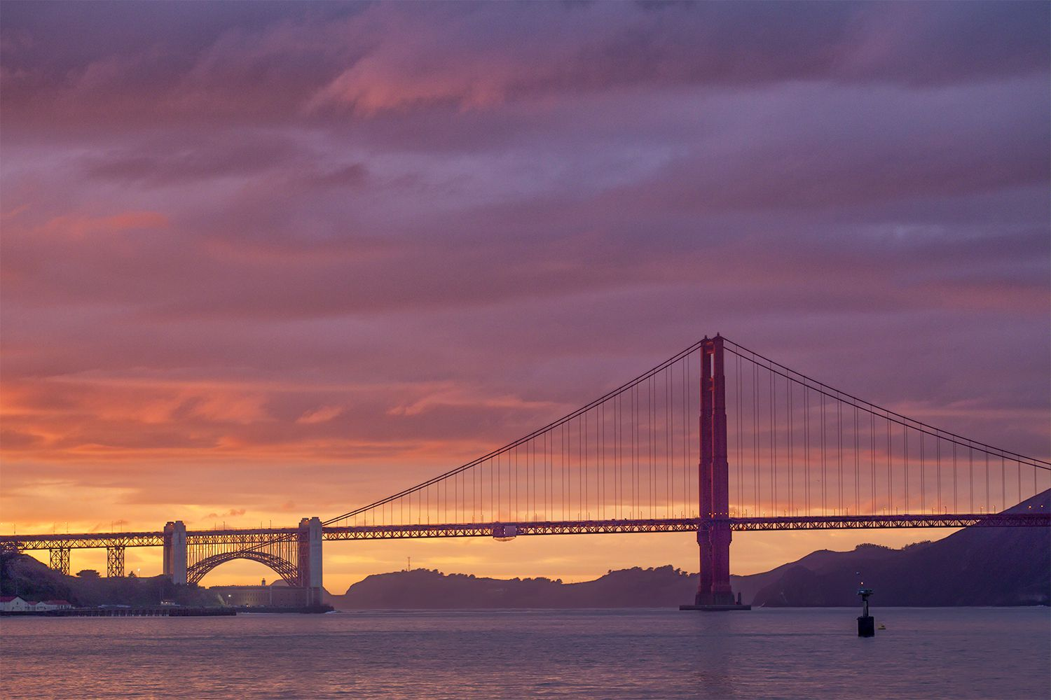 Golden Gate Bridge View from St Francisco Yacht Club
